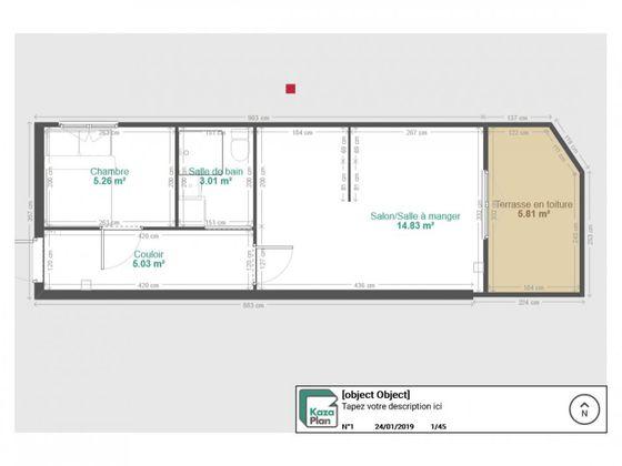 Vente appartement 2 pièces 27,34 m2