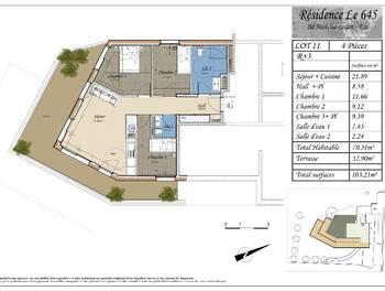 Appartement 4 pièces 70,31 m2