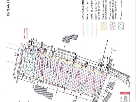 Vente terrain 604 m2
