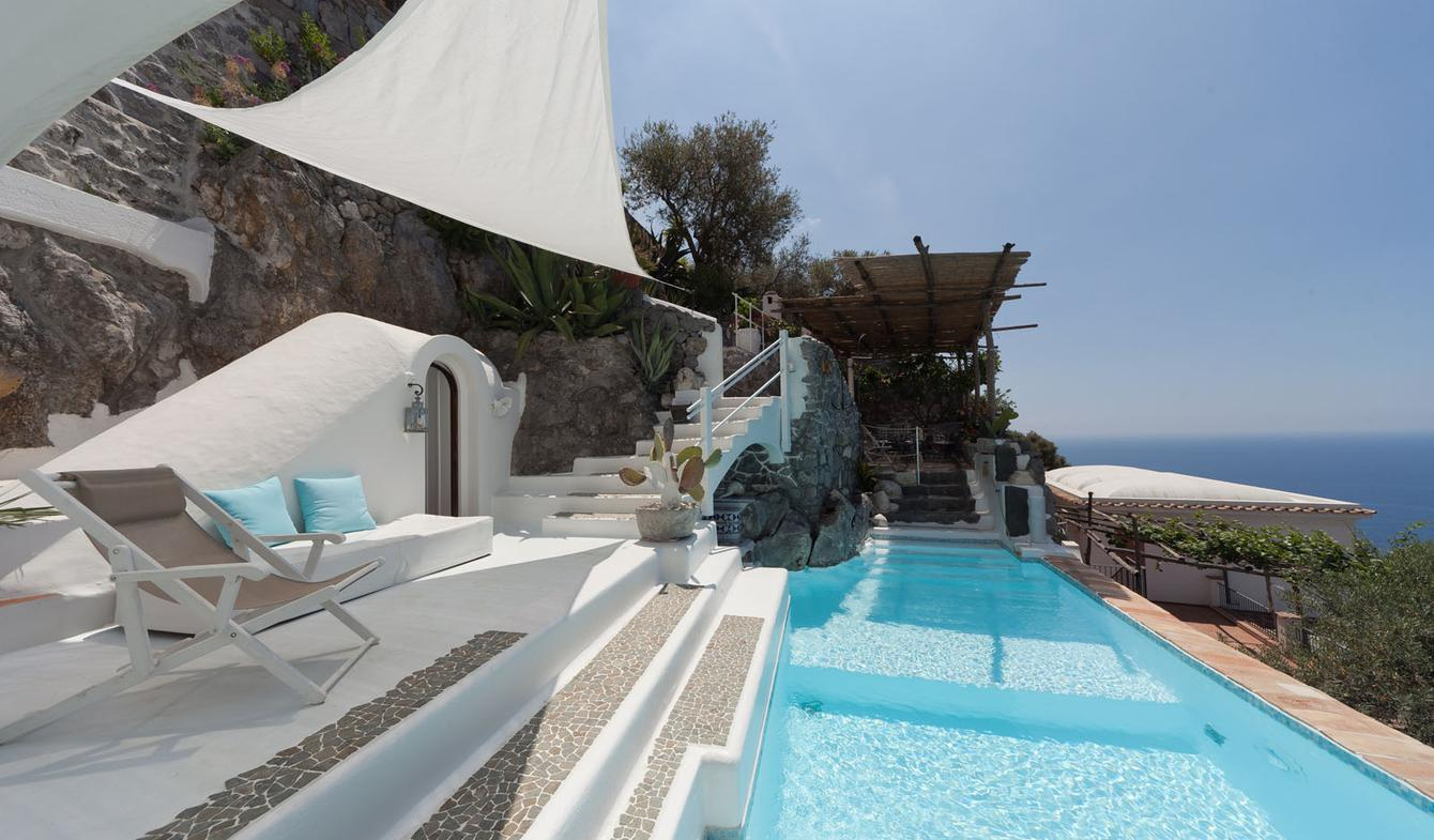 Villa with pool and terrace Praiano