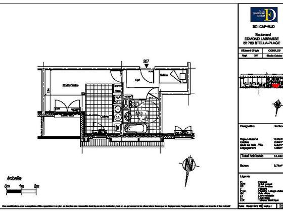Vente studio 31,4 m2