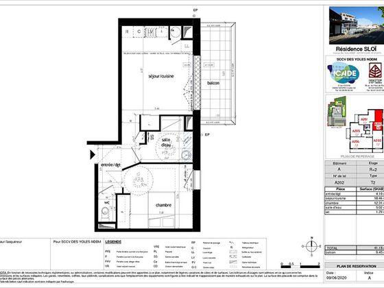 Vente appartement 2 pièces 41,18 m2