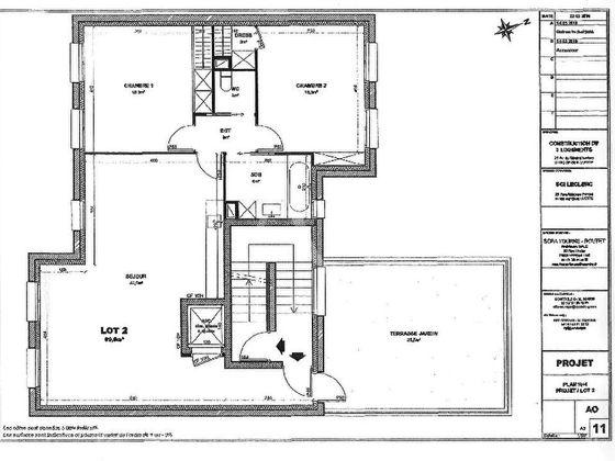 Vente appartement 3 pièces 89,5 m2