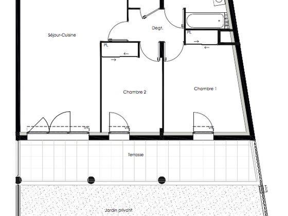 Vente appartement 3 pièces 62,59 m2
