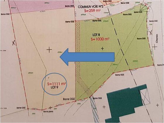 Vente terrain 1111 m2