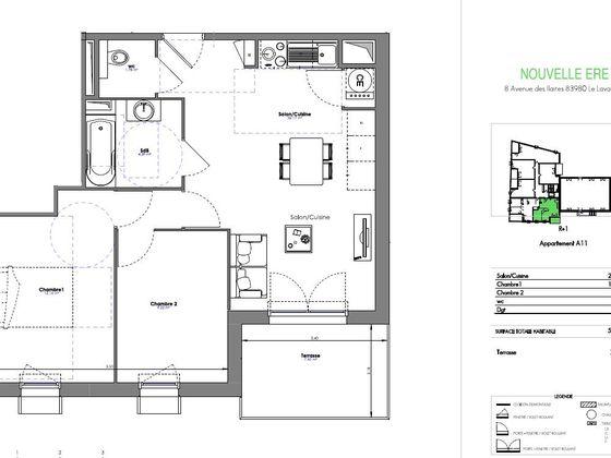 Vente appartement 3 pièces 50,71 m2
