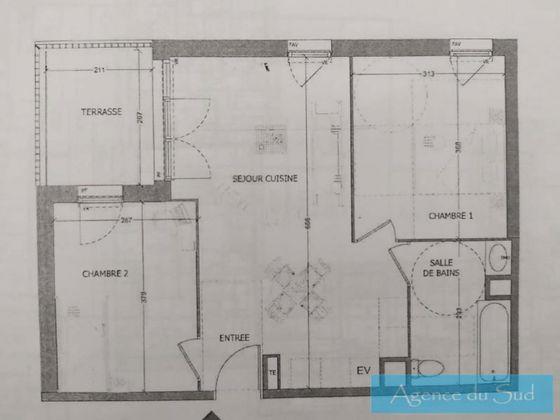 Vente appartement 3 pièces 52,75 m2