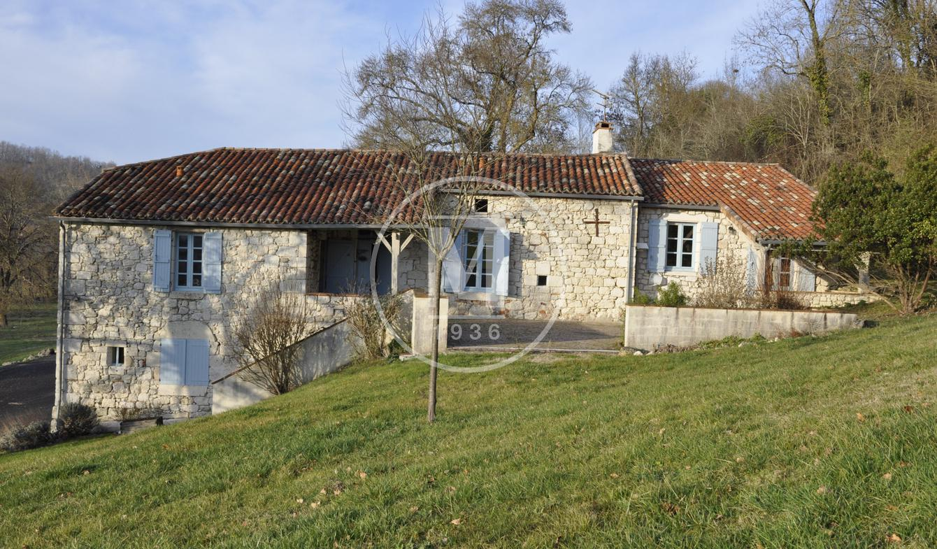 House with pool and terrace Laroque-Timbaut