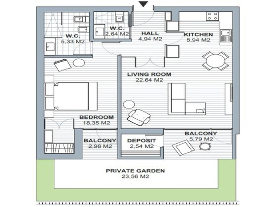 Vente appartement 76,78 m2