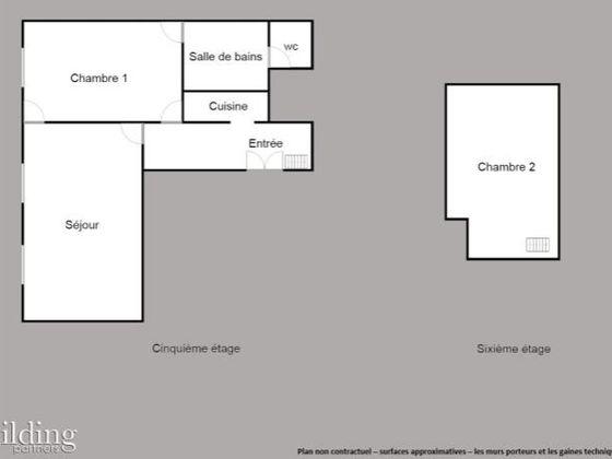 Vente appartement 2 pièces 63,8 m2