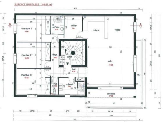 Vente appartement 4 pièces 109,67 m2