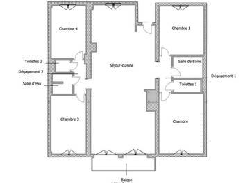 Appartement 5 pièces 102,42 m2