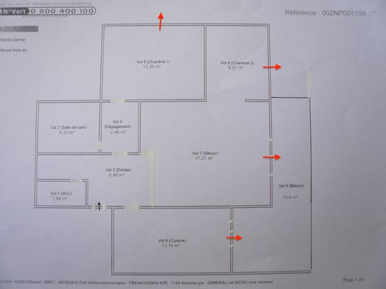 Vente appartement 3 pièces 68,03 m2