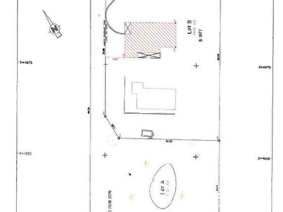 Vente terrain 1121 m2