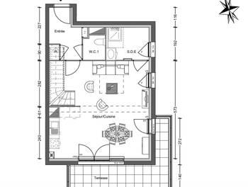 Appartement 4 pièces 85,54 m2