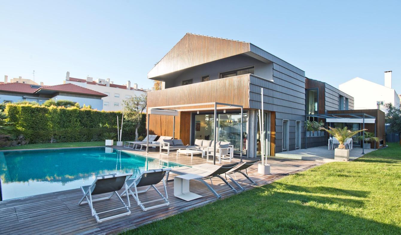 Villa avec piscine et jardin Parede