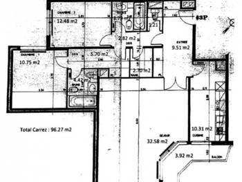 Appartement 3 pièces 95,84 m2