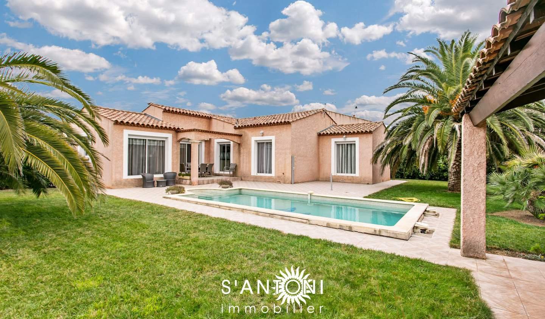 Villa avec piscine et terrasse Pomérols