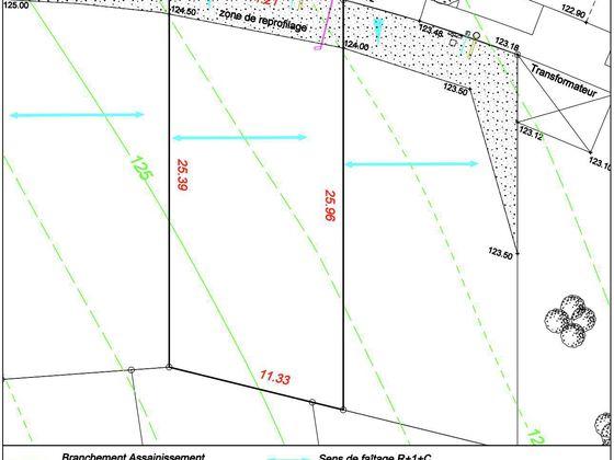 Vente terrain 283 m2
