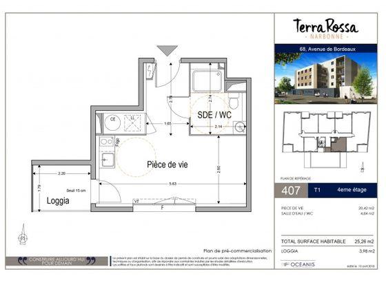 Vente studio 25,26 m2