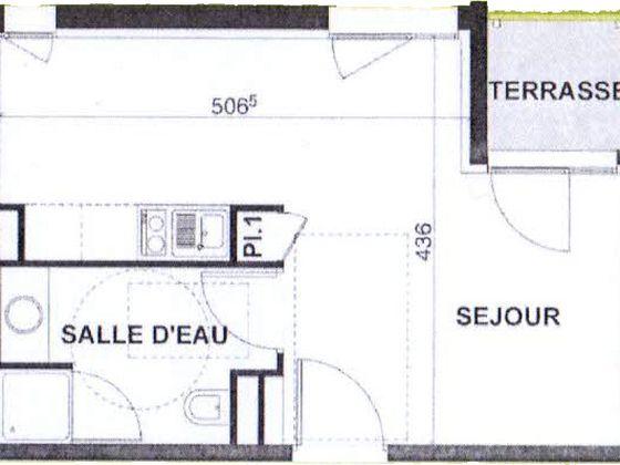 Vente studio 25,72 m2