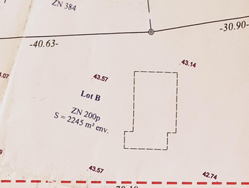 Terrain 2245 m2