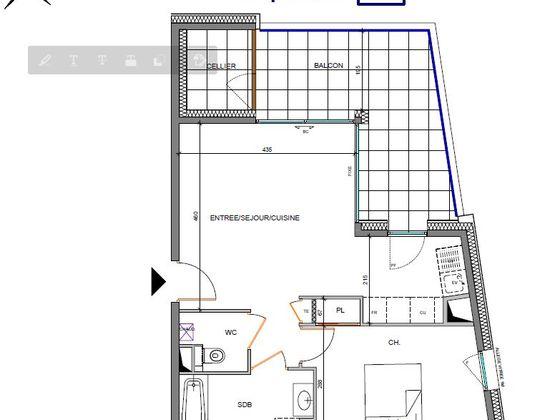 Vente appartement 2 pièces 47,34 m2