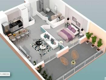 Appartement 2 pièces 45,97 m2