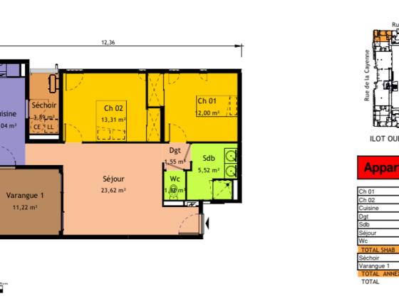 Vente appartement 3 pièces 78,58 m2