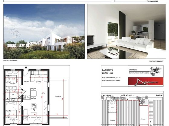Vente appartement 3 pièces 63,8 m2