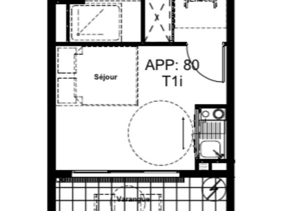 Vente studio 27,78 m2