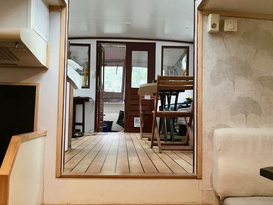 Vente péniche 2 pièces 45 m2