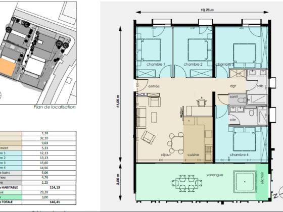 Vente appartement 6 pièces 126,13 m2