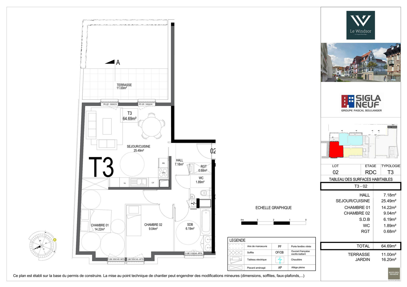plan appartement 64m2