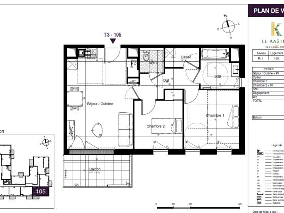 Vente appartement 3 pièces 59,28 m2
