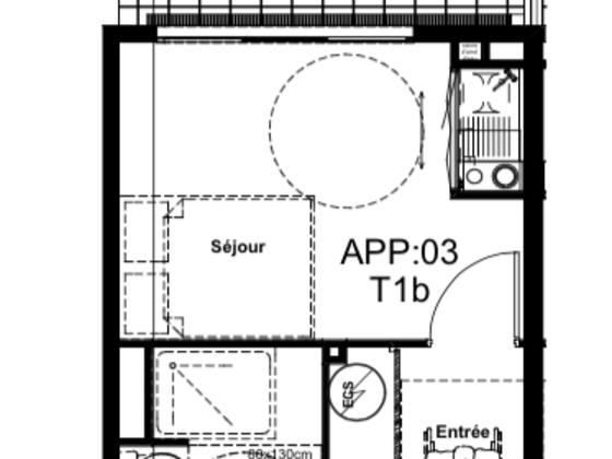 Vente studio 25,38 m2