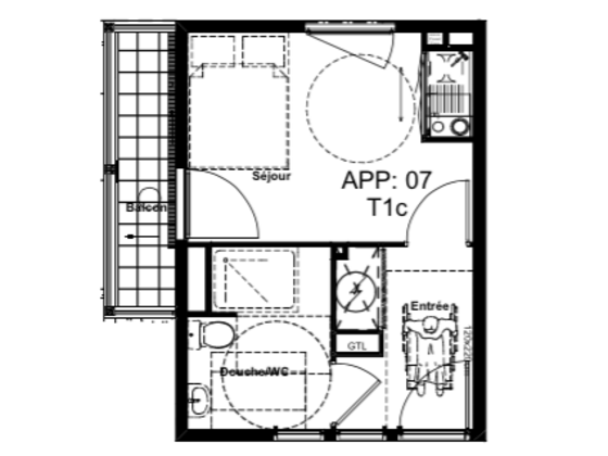 Vente appartement 22,96 m2