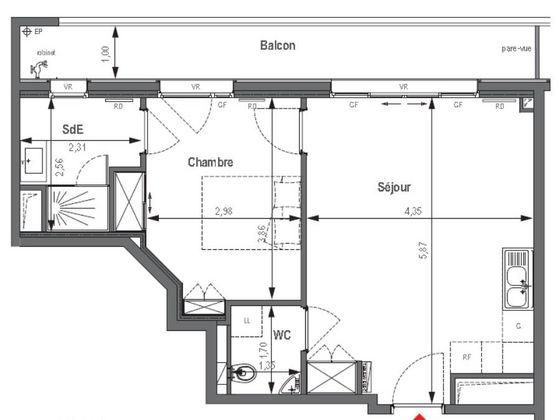 Vente appartement 2 pièces 44,17 m2